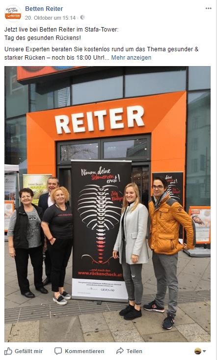 Tag Des Gesunden Rucken Promotion Agentur Neutor Wien